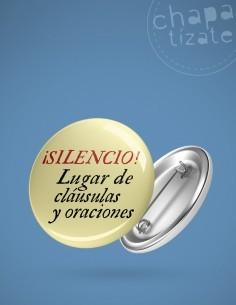¡Silencio! Lugar de cláusulas y oraciones.