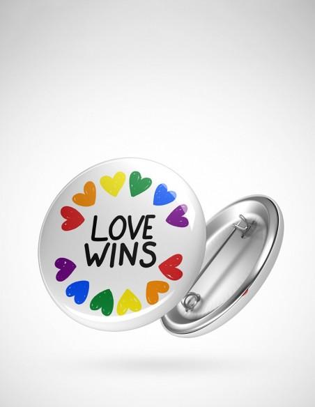 Chapa orgullo Love wins